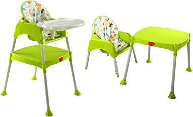 LuvLap 3 in 1 Convertible Baby High Chair with Cushion-Green
