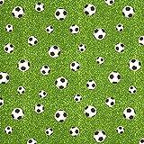 Fabulous Fabrics Dekostoff Ottoman Fußballfeld - grün -