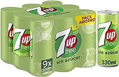 7 UP Free Sin Azúcar, 9 x 330ml