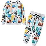 JinBei Conjuntos Deportivos para bebé Niño Chándales Conjunto Sudaderas Sweater Pantalones Ajustable Cinturón Algodon Otoño I