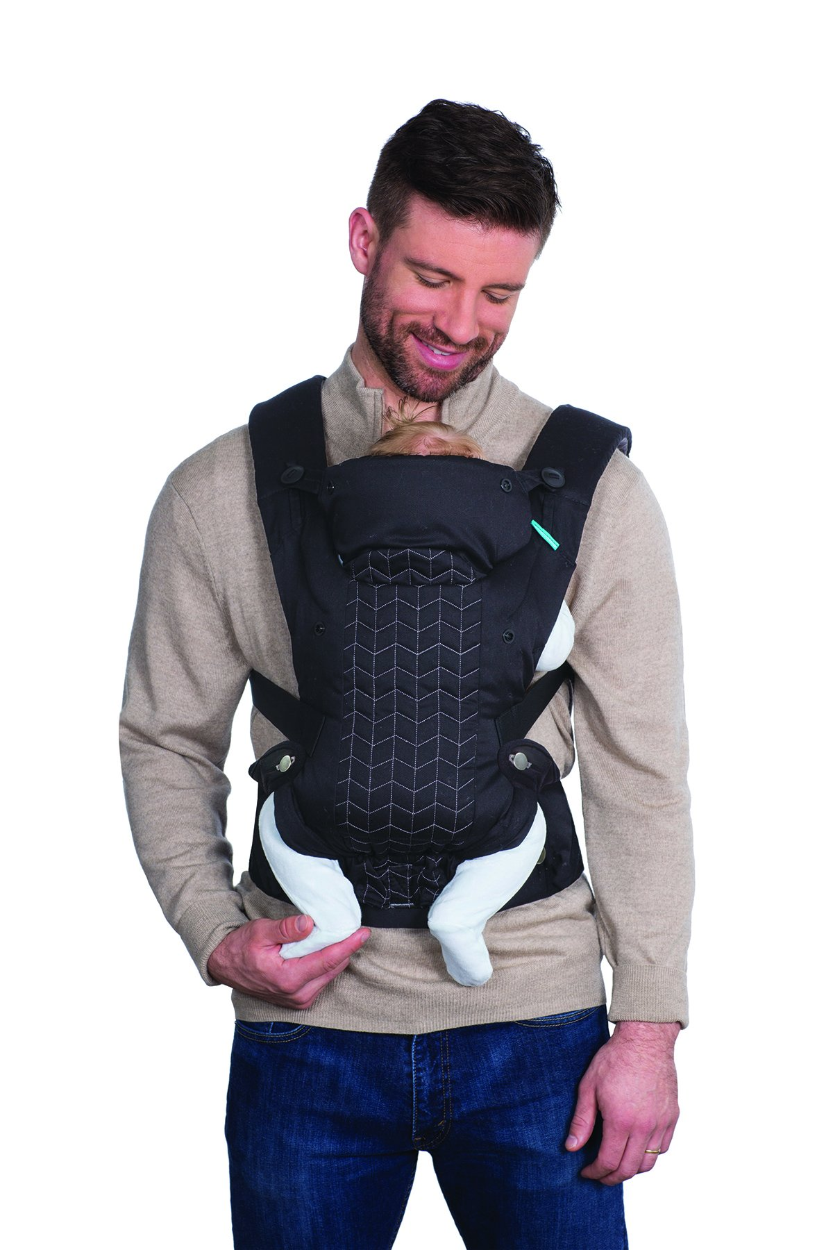 Infantino Upscale Carrier, Black, One Size Infantino Fully safety tested 4 way carrier Facing in newborn & m position 3