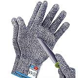 1Pair M Sunwuun Cut Resistant Gloves Work Gloves Level 5 Working Safety Glove Man Cut Proof Gloves for Kitchen Butcher Outdoo