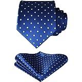 BIYINI Fazzoletto da uomo con cravatta a pois Jacquard intrecciato Cravatta classica da uomo e fazzoletto