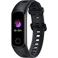 HONOR Band 5i (Meteorite Black) Full Color Touchscreen, in-Built USB Charging, Music Control, Watch Faces Store, Multiple Sports Modes, Scientific Sleep Monitor, HR Monitor, 50M Water Resistance