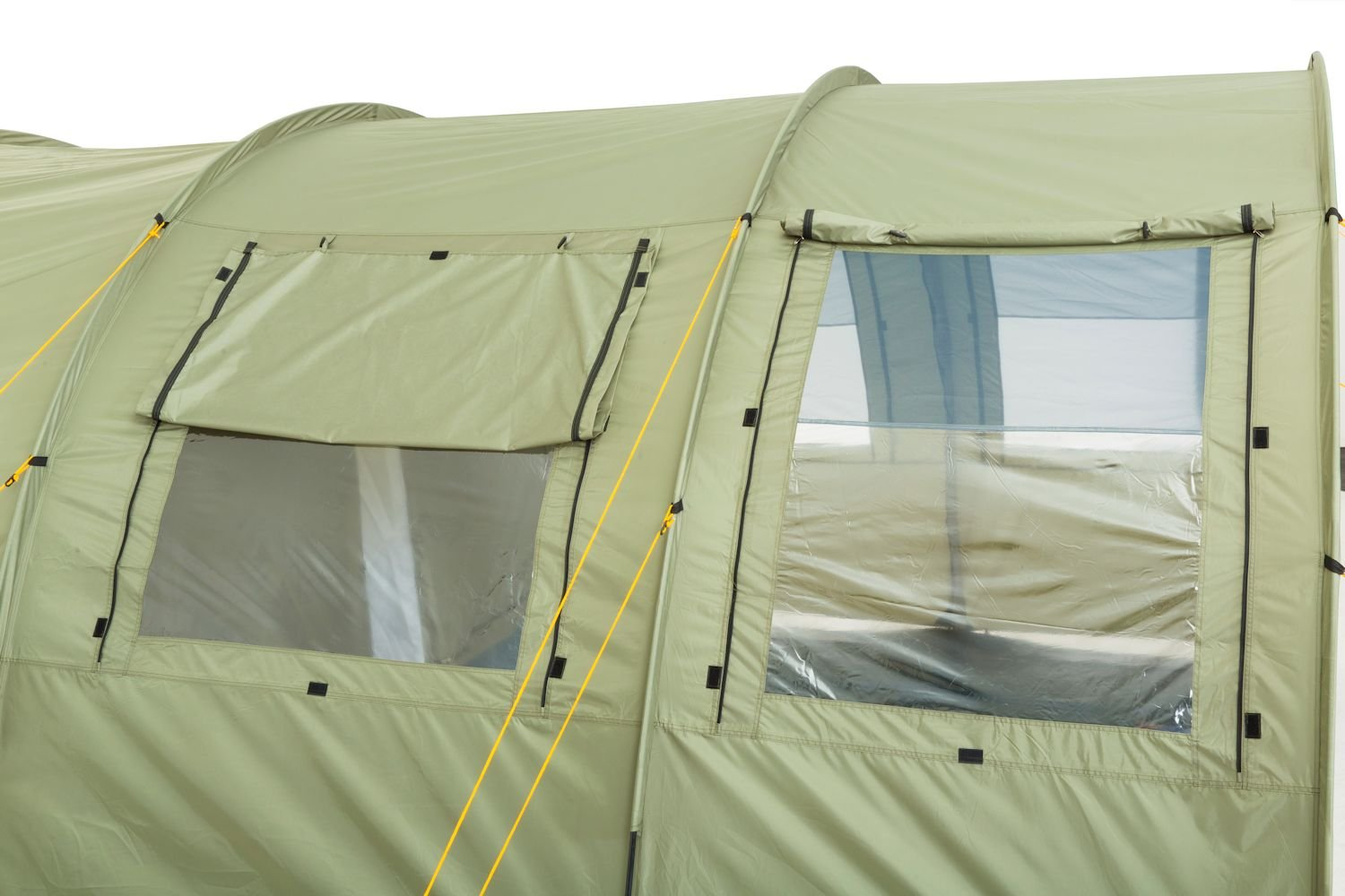 CampFeuer - Tunnel Tent with 2 Sleeping Compartments, Olive-Green, with Groundsheet and Movable Front Wall 6