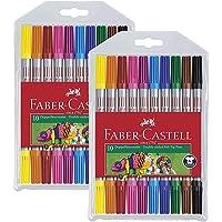 Faber-Castell 151110 - Doppelfasermaler, 10er Etui (2x 10er Etui)