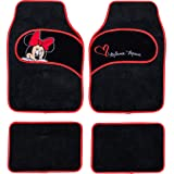 Disney Minnie co Tappetini Auto in Moquette universali con Ricamo Minnie