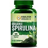 Himalayan Organics Organic Spirulina - 2000Mg Per Serving - Certified Organic - 120 Veg Capsules