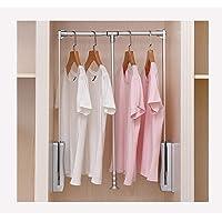 QSMGRBGZ Barre Penderie Escamotable, Tenue de vêtements de Levage Automatique de vestiaire/Rail de vêtements, Armoire…