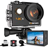 Yolansin Caméra Sport 4K WiFi, Action Caméra sous-Marine 40 m, Caméra d'Action Super EIS avec Grand Angle, 2,4 G Télécommande
