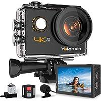 Yolansin Action Cam 4K 20MP WiFi 40M wasserdichte Unterwasserkamera EIS Sportkamera mit 170 ° Weitwinkel HD DV Camcorder…