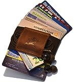 Premium Slim Wallet & Kartenetui mit Geldklammer (4-12 Karten) - Crazy Horse Rindsleder – Mini Portemonnaie für Herren & Damen - Kleine Geldbörse, minimalistischer Geldbeutel
