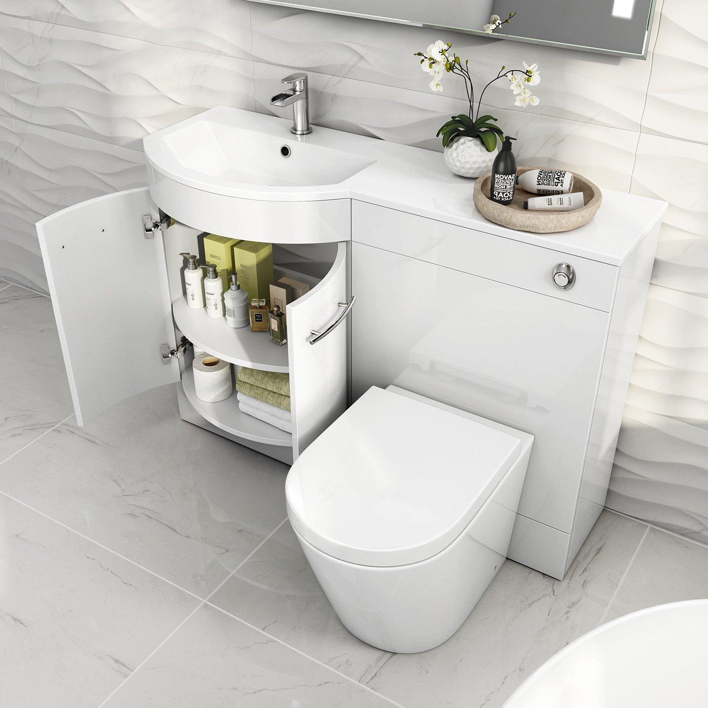 Enjoyable 1200 Mm White Vanity Unit Countertop Basin Toilet Bathroom Furniture Set Mv1610 Home Interior And Landscaping Transignezvosmurscom