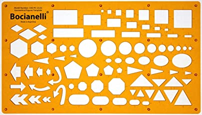Plantec Traccia Dima Circolo quadrato rettangolo Freccia Ellipse Triangolo Esagono Pentagono simboli–Disegno Tecnico traçage Illustrazione