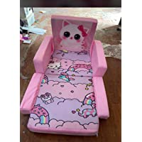 STUFFUP Kids Sofa Cum Bed | Seating Chair for Kids | for Kids Under 6 Years (Baby Pink)