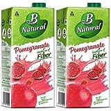 B Natural Pomegranate Juice, 1L (Pack of 2)
