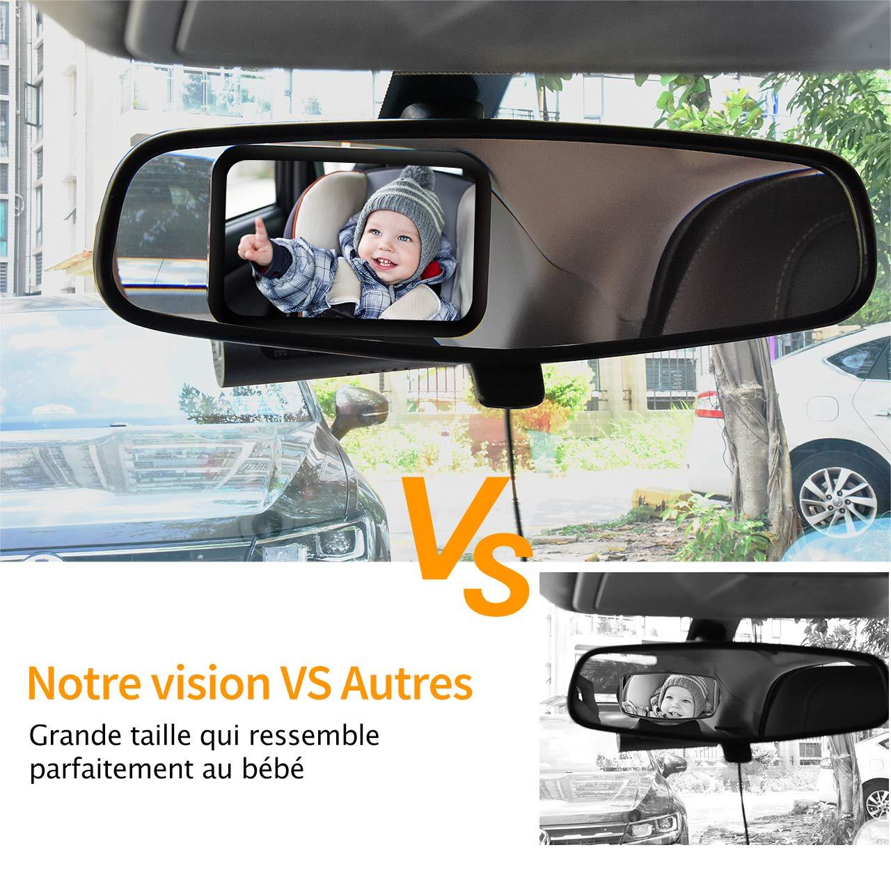 Retroviseur Surveillance Miroir Bebe Enfant Securite Voiture Siege Arriere 360