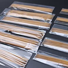 Lepakshi 11 Sizes 55Pcsset 13Cm Double Pointed Carbonized Bamboo Dark Patina Needles Knitting Knit