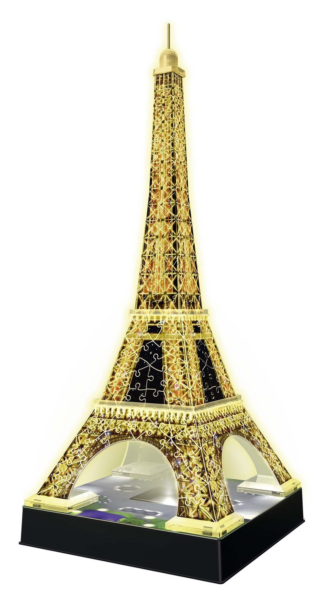 Ravensburger- Tour Torre Eiffel Puzzle 3D con LED, Edizione Speciale Notte, 216 Pezzi, Multicolore, 12579 2 spesavip