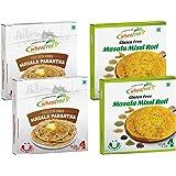 Wheafree Gluten Free Ready to Eat Masala Missi Roti (4pc x 2) & Parantha (4pc x 2) Combo Pack