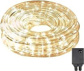 LED Lichterschlauch 10m 240er LED Lichter mit 8 Modi Innen und Außenbereich Lauflichter für Saal, Garten, Weihnachten, Hochzeit, Party - Warmweiß Lichtschläuche