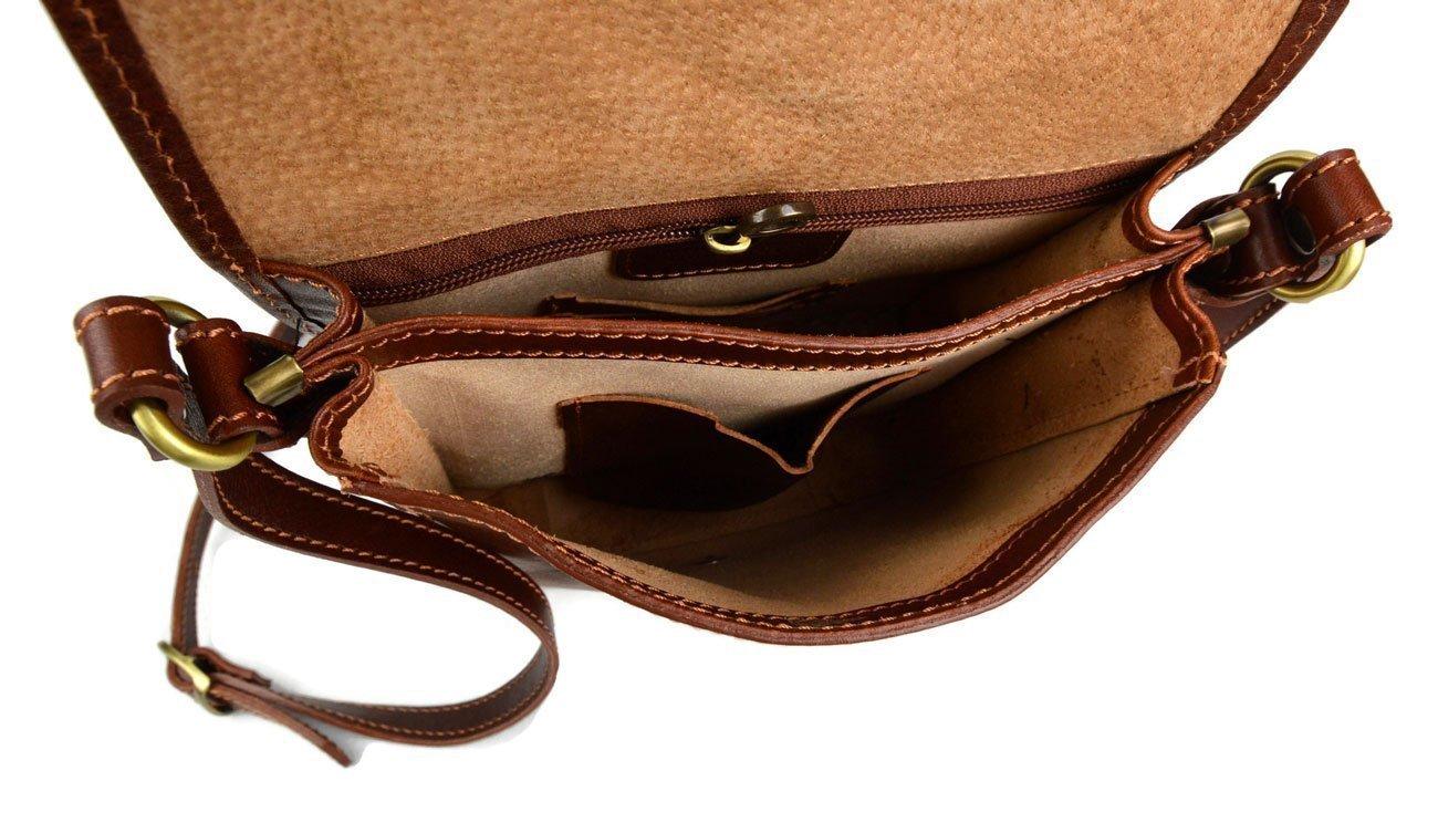 Mens shoulder leather bag shoulderbag genuine leather briefcase messenger business document bag ladies honey - handmade-bags
