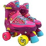 Best Sporting Rollschuhe für Kinder und Jugendliche, Größe verstellbar, ABEC 7 Carbon, Farbe: pink-gelb-blau, Größe: 36-39