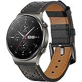 SPGUARD Bracelet Compatible avec Bracelet Huawei Watch GT 2 Bracelet Huawei Watch GT 2e,22mm Bracelet en Cuir de Rechange pou