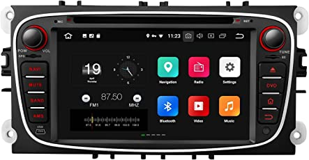 Eonon Android 8 7 Zoll Auto Stereo DVD GPS Navigation Sat NAV für Ford Mondeo Focus S-Max Auto CD DVD Player Touchscreen Head Unit Bluetooth DAB + Wifi AV Out Subwoofer Cam-in GA9162A