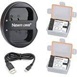 Newmowa Double USB Chargeur + 2 Remplacement Batterie DMW-BLF19 pour Panasonic DMW-BLF19 DMW-BLF19E et Panasonic DMC-GH3 DMC-GH3A DMC-GH3H DMC-GH4 DMC-GH4H DC-GH5S