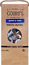 Gouri's Goodies Natural Energy Mini Bites Dates and Chia, 200g