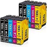 Aoioi Cartucce 18 XL Compatibile con Epson 18 18XL per Epson Expression Home XP-202 XP-205 XP-212 XP-215 XP-302 XP-305 XP-312
