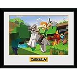 GB Eye LTD, Minecraft, Zombie Attack, Photographie encadree 30x40 cm