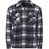 Stylo Online Unisex Padded Shirts Lumberjack Collared Hooded Flannel Check Jacket Thick Quilted Work Wear Warm Thermal Fleece