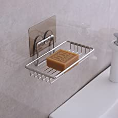 HOKIPO Stainless Steel Magic Sticker Series Self Adhesive Soap Holder