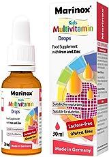 Marinox Kinder Multivitamin Tropfen | Nahrungsergänzungsmittel mit Eisen und Zink | 30 ml
