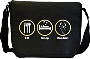 Conductor Eat Sleep Conduct - Sheet Music Document Bag Sacoche de Musique MusicaliTee