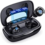 Wireless Earbuds, 180H Playtime Bluetooth 5.0 IPX8 Waterproof Touch-controlled Running Earbuds, In-Ear Headphones with Built-