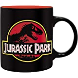 ABYstyle Taza Jurassic Park T-Rex & Logo 320ml cerámica Negro Rojo