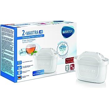 BRITA Filtri MAXTRA+ Pack 2, Cartucce per Caraffe Filtranti, 2 Filtri x 2 Mesi di Acqua Filtrata