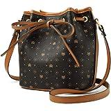 PVC Leather Crossbody Bags for Women, Faux Leather Ladies Signature Shoulder Bag