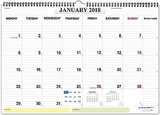 mapyourmonth Planner organizer diary wall calendar 2018