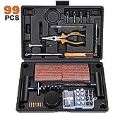 Kohree 99PCS Kit de Reparation de Pneu Moto Professionnel Meche Pneu Kit Crevaison Réparation Pneu tubeless Voiture Portable