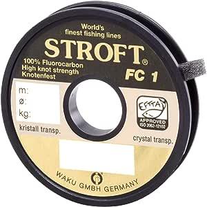 0.250mm-6kg WAKU Schnur STROFT Fluor Monofile 25m