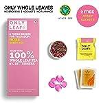 Only Leaf Rose Green Tea, 27 Tea Bags (25 Tea Bags + 2 Free Exotic Samples + 2 Free Honey Sachets)