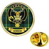 I LUV LTD Gordon Clan Scozzese Cresta Risvolto Perno Tesserino in Colore Oro Prodotto della Scozia