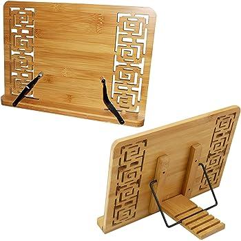 Leggio in bamb leggio da tavolo reggilibri con supporto - Leggio per libri da tavolo ...