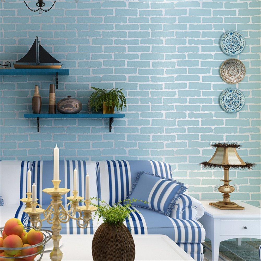 Papier peint pas cher design vintage rustique 3D 53CM*10M aspect mur de briques