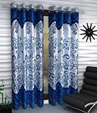 Homefab India Set of 2 Polyester Curtains