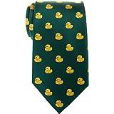 Corbata para hombre con diseño de patos de goma de Retreez, tejido de microfibra